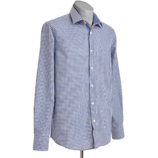 MuHeNeRa Trendy Regular Fit Light Blue Men's Shirt