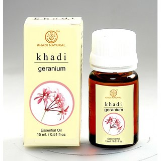 Khadi Natural Herbal Geranium Essential Oil-15ml