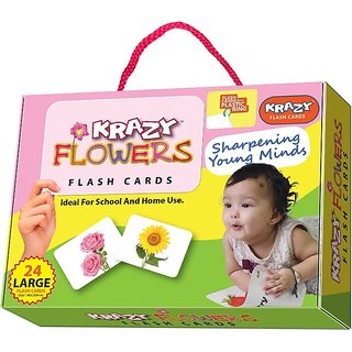 Krazy Flowers Flash Cards With Ring