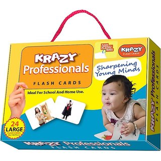 Krazy Professionals Flash Cards With Ring