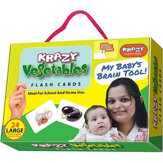 Krazy Vegetables Flash Cards With Ring