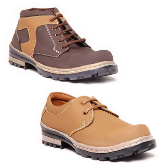 Foster Blue Brown & Brown Lifestyle Casual Shoes