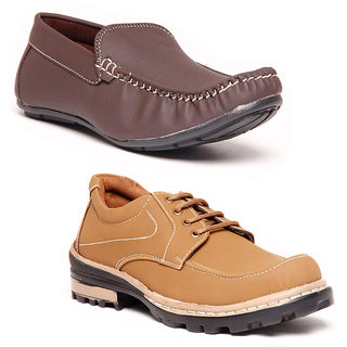 Foster Blue Brown & Brown Casual Shoes