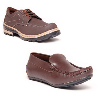 Foster Blue Brown & Brown Lifestyle Stylish Casual Shoes