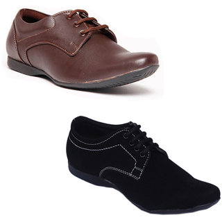 Foster Blue Men's Brown & Black Lifestyle Stylish Casual Shoes
