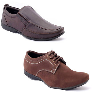 Foster Blue Brown & Brown Non Leather Casual Shoes