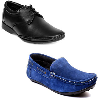 Kewl Instyle Men's Black & Blue Casual Shoes