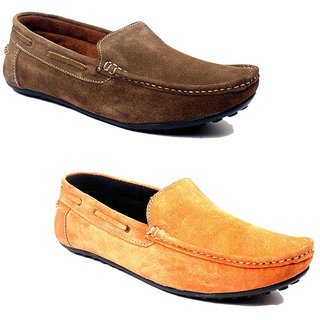 Kewl Instyle Men's Brown & Orange Lifestyle Casual Shoes
