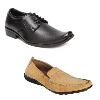 Kewl Instyle Men's Black & Tan Lifestyle Casual Shoes
