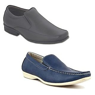Kewl Instyle Men's Black & Blue Lifestyle Casual Shoes