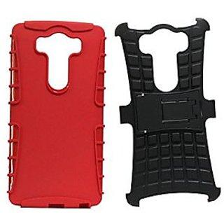 Jo Jo Kick Stand Armor Hybrid Case Cover Bumper Designed For Lg G4 Pro Red