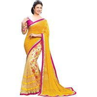 New Designer Fancy Georgette Saree (In 2 Color Option)