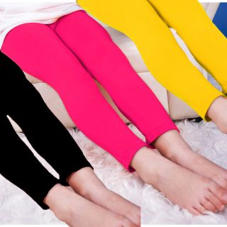 COMBO OF 3 GIRLS COTTON LYCRA SOLID LEGGING