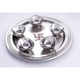 Diya Pooja Thali With 5 Diyas Model No 62