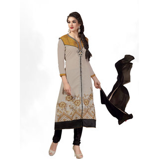 Lovely Look Grey Embroidered Un Stitched Chudidar Suit LLKVTG6305
