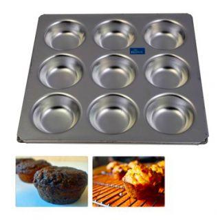 Aluminium Muffin Bakeware Tray 9 compatments