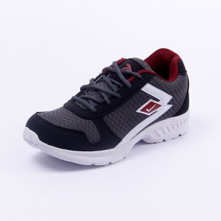 Foot 'n' Style Comfortable Grey & Red Sports Shoes (fs432)