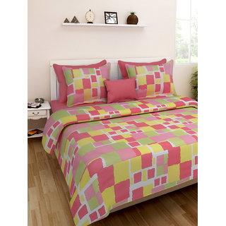 Desi Connection  Printed Cotton Double Bed Sheet(4373)