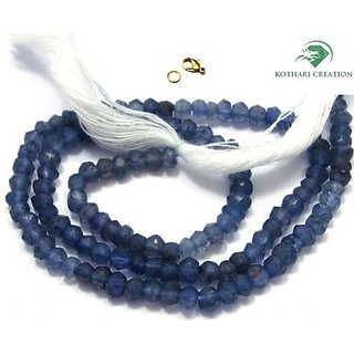 NATURAL SHADED IOLITE STONE 3-4MM RONDELLE FACET BEADS 18 LONG CHOKER NECKLACE