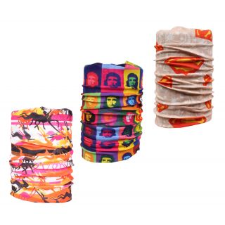 Sushito Combo Of Three Multi Use Bandana JSMFHMA0683-JSMFHMA0557-JSMFHMA0710