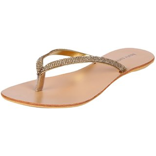 Haute Curry Womens Synthetic Sandals COLOUR GOLD
