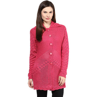 BrandTrendz Red Plain Wool Stitched Kurti