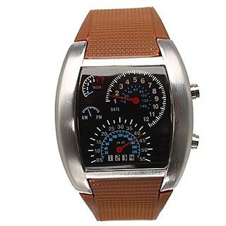 Jack klein Brown Color Meter Led Watch