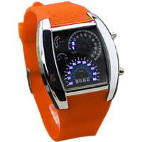 Jack klein Orange Color Meter Led Chronograph Watch