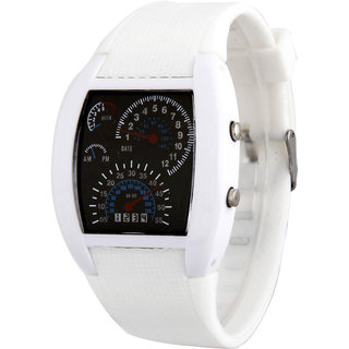 Jack klein White Colour Meter Led Watch