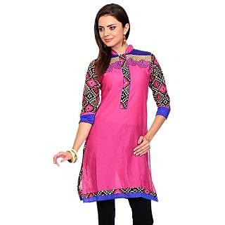 Womens Cotton Kurti Pink Colour