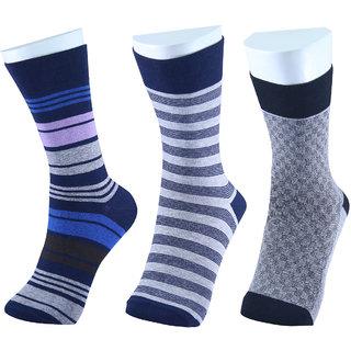 MM Fashion Pack of 3 Combed Cotton Regular Length Socks MMF -2B