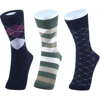 MM Fashion Pack of 3 Combed Cotton Regular Length Socks MMF -5B