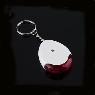 LED Key Finder Locator Chain Keychain Whistle Sound Control WHITE  RED