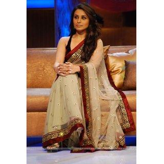 Bollywood Rani Mukherjee Tasar Net Saree