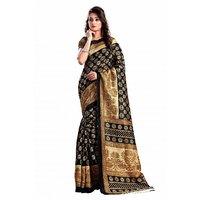 Krizel Black  Gold Bhagalpuri Silk Saree