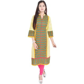 RajLaxmi Jaipuri Printed Multicolor Cotton Kurti