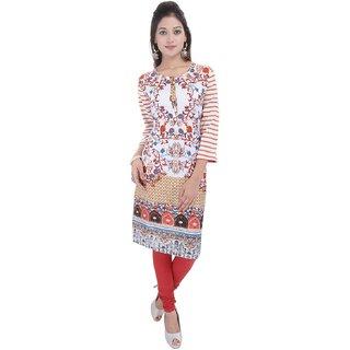 RajLaxmi Self Designed Girls Rayon Kurti