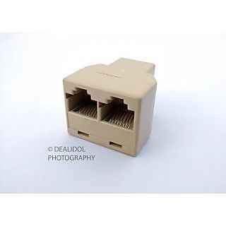 Lan Splitter RJ 45 Cat 5 Ethernet Connector Joiner Coupler Gender Changer