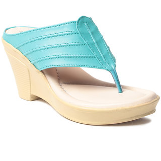 Msc WomenS-Green-Synthetic-Wedges (MSC-259-6201-Wedges-GREEN)