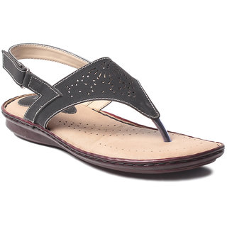 Msc WomenS-Black-Synthetic-Flats (MSC-21-7431-FLATS-BLACK)