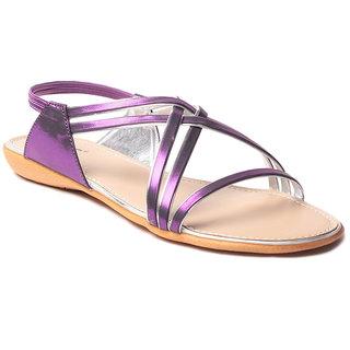 Msc WomenS-Purple-Synthetic-Flats (MSC-9-243-FLATS-PURPLE)