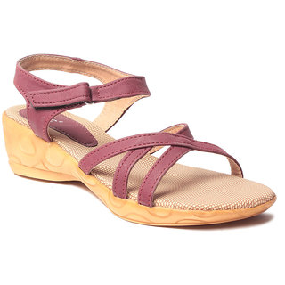 Msc WomenS-Cherry-Synthetic-Heels (MSC-03-6050-HEELS-CHERRY)