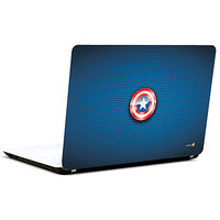 Pics And You Captain America Logo-On Blue 3M/Avery Vinyl Laptop Skin Decal-Sh019