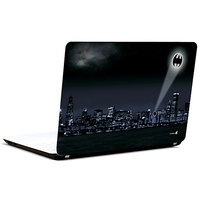 Pics And You Batman Logo In City 3M/Avery Vinyl Laptop Skin Decal-Sh088