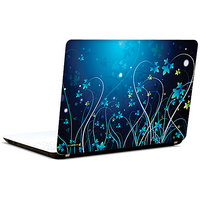 Pics And You Abstract Floral Blue 3M/Avery Vinyl Laptop Skin Decal-Ab191