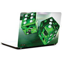 Pics And You Green Dice Abstract 3M/Avery Vinyl Laptop Skin Decal-Ab226