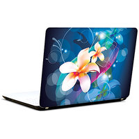 Pics And You White Flowers Abstract 3M/Avery Vinyl Laptop Skin Decal-Ab186