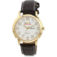 ALPINE CLUB SWITZERLAND ACW-007-SIL-BRW-GLD WATCH