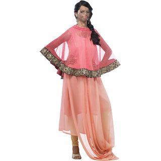 Kryptos Online Peach  Pink Colored Kurti.