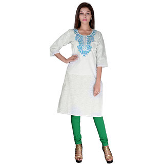 Factorywala Designer  Colorful Regular wear Embroidered Kurti For womens